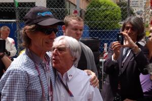Mick Jagger with Bernie Ecclestone in Monaco.
