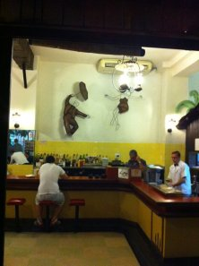 Bar restaurant in Sao Paulo that I caught in action as I passed by last night