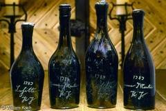 Thomas Jefferson wine bottles