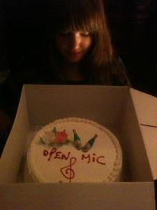 Highlander Open Mic 6th Anniversary Cake