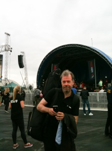 Brad Spurgeon after performance at F1 FanZone in London