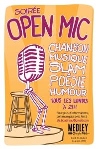 Medley Simple Malt open mic in Montreal