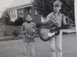 Brad Spurgeon, right with guitar, the Monkee fan in around 1967