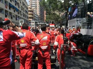 Ferrari in Monaco on the Grid.   Photo:  Brad Spurgeon