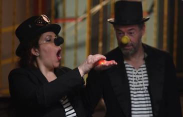 Ornella Bonventre & Brad Spurgeon Clowning