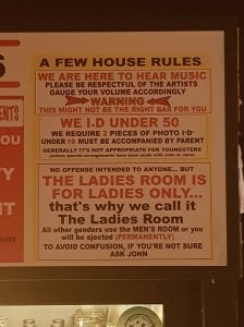 house rules at the moonshine