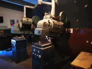 Projectors at Romanofir Factory cinema and theater